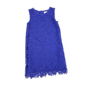 Kate Spade Floral Crochet Lace Overlay Shift Dress